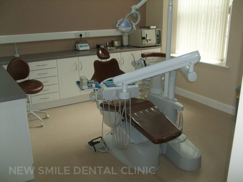 Dentist chair in surgery