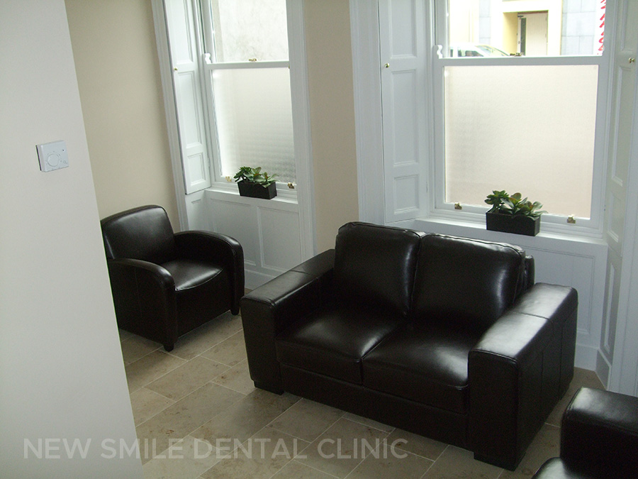 Dental practice waiting room