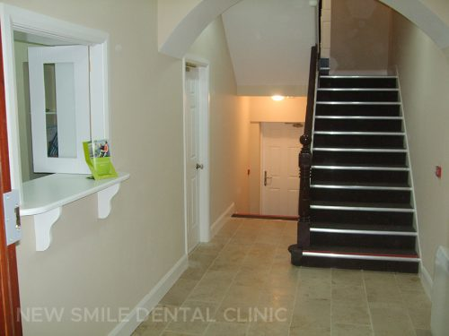 Dental practice entrance
